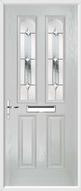2 Panel 2 Arch Composite Door regal diamond glass