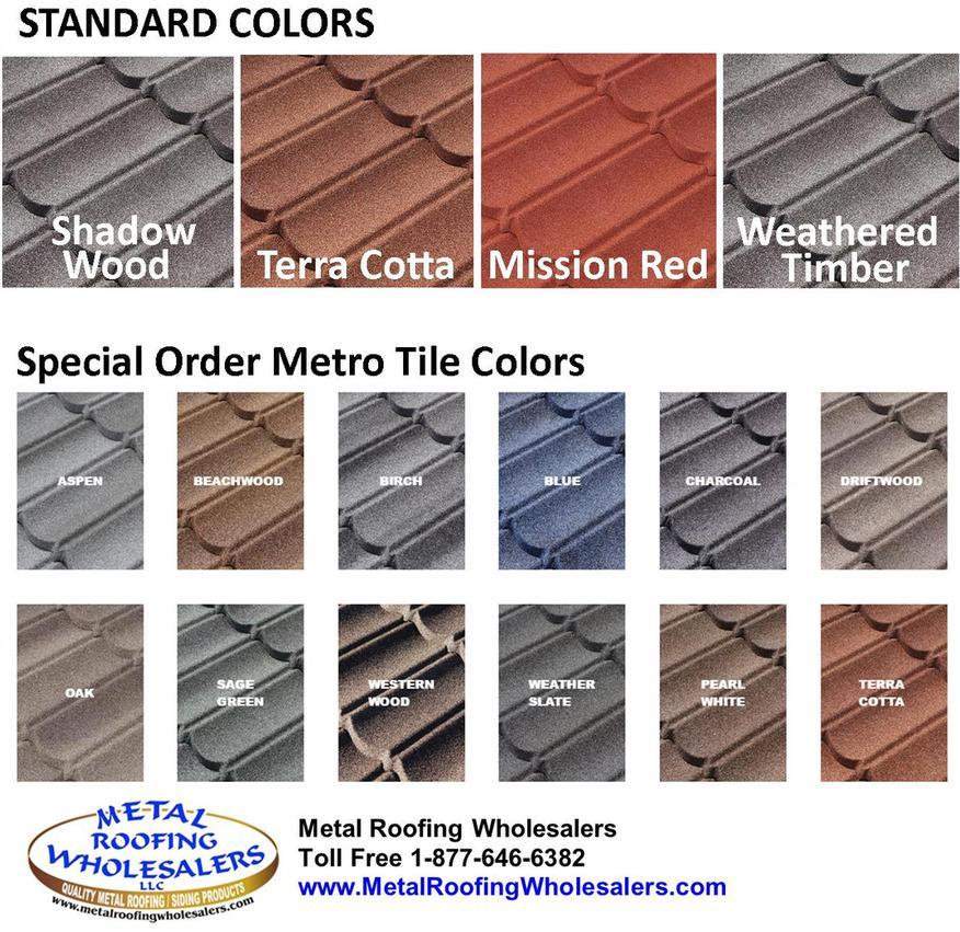 Metro Tile Colors Metal Roofing Wholesalers