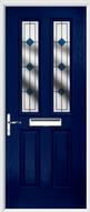 2 Panel 2 Square Composite Door resin lead glass