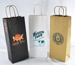 Custom printed handle wine bags
