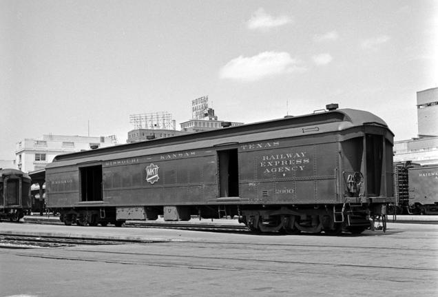 Missouri-Kansas-Texas, Baggage and Express Car 2660, May 10, 1958, Dallas, Texas.