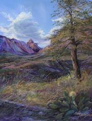 Window Onto Texas, pastel of Big Bend NP by Lindy C Severns