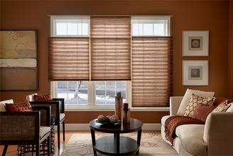 Voom window fashions pleated shades residential