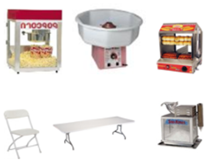 Pop corn snow cone cotton candy hot dog steamer generators