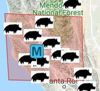 map of private hunting ranches locations sonoma