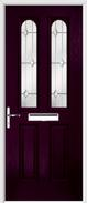 2 Panel 2 Arch Composite Door regal opal glass