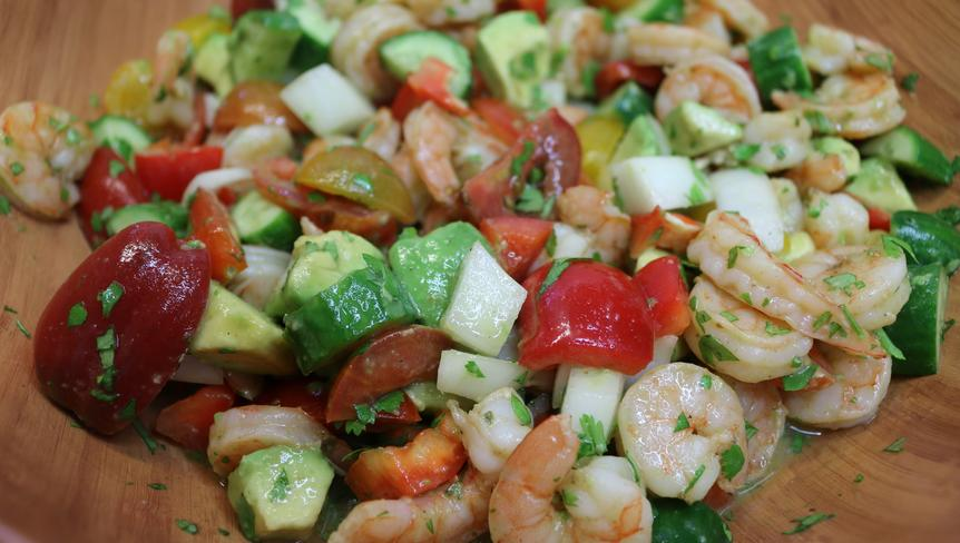 Roasted Shrimp & Avocado Salad Recipe, Noreen's Kitchen