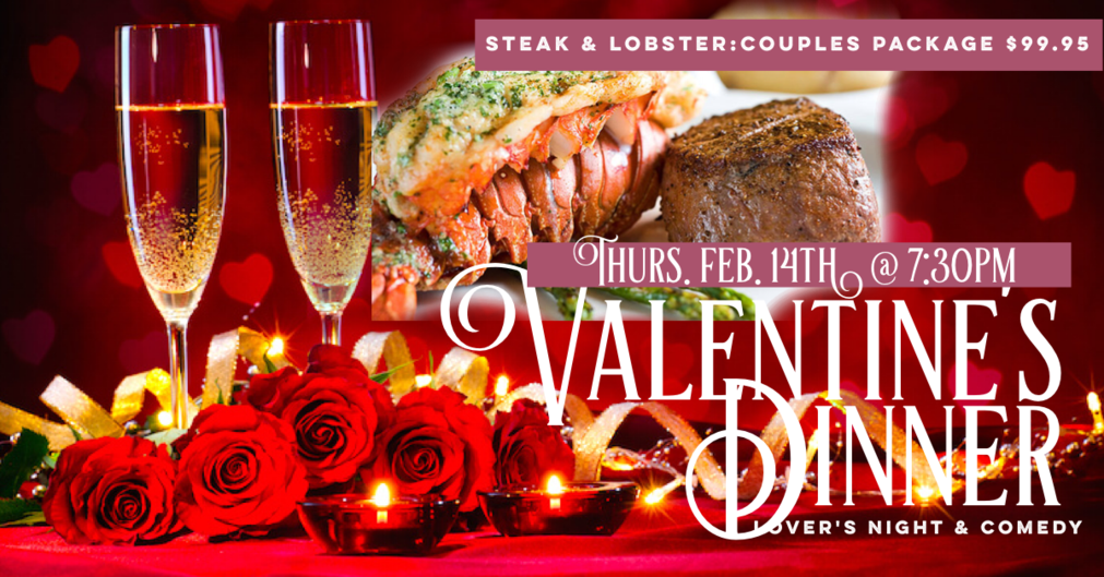Valentines Dinner Steak and Lobster Atlanta Comedy Punchline Comedy Uptown Comedy