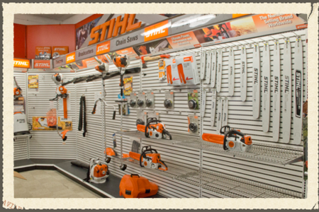 We offer Chainsaws, Trimmers, Mowers, Sales and Service