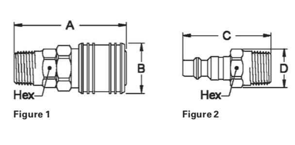 3//8 Body 1//4-18 NPTF Male 1//4 Port Size 3//8 Body Eaton Hansen 40 Steel Tru-Flate Interchange Ball Lock Pneumatic Fitting 1//4 Port Size Plug 1//4-18 NPTF Male