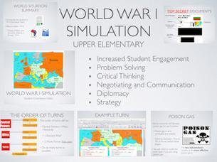 World War I Elementary Simulation