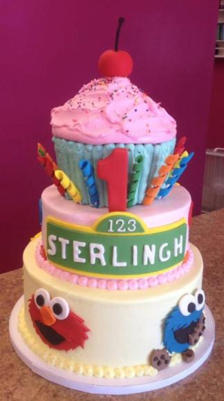 3 Tier Sesame Street Cake Make Their 1st Birthday A SMASH