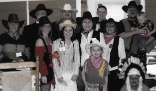 Cast of Downloadable DIY Wild West Murder Mystery Party Kit: Death in them thar hills from Teresa Smith in Surfside Beach, South Carolina