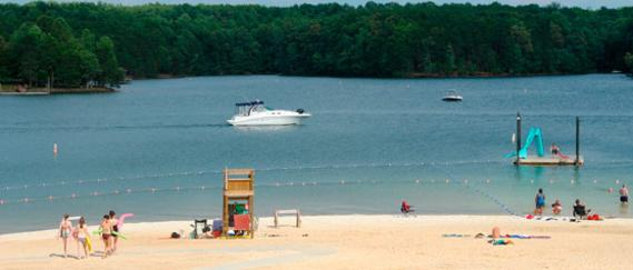 Public Beach at Smith Mountain Lake State Park