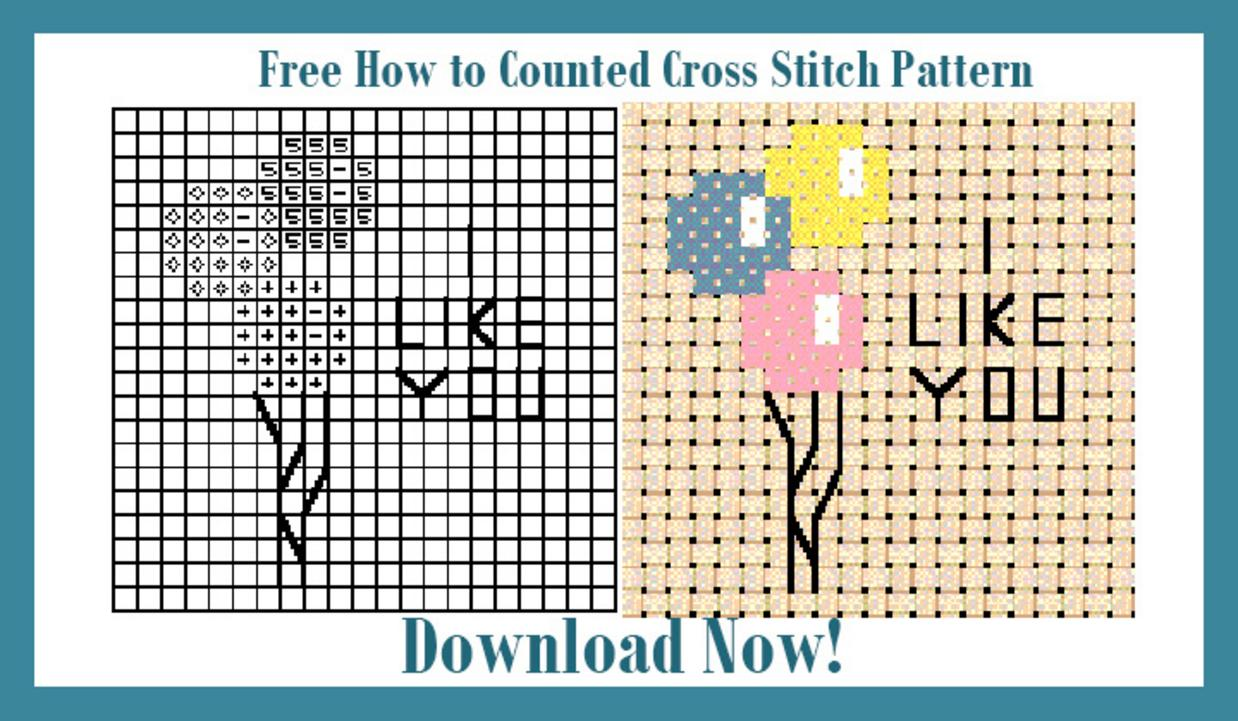 Download free How To Cross Stitch Chart and Instructions