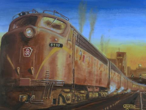 Pennsylvania Railroad passenger train painting