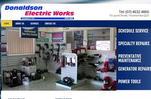 Donaldson Electric Works Website Creation | Digital Marketing Professionals Toowoomba