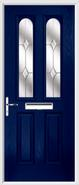 2 Panel 2 Arch Composite Door jewel glass