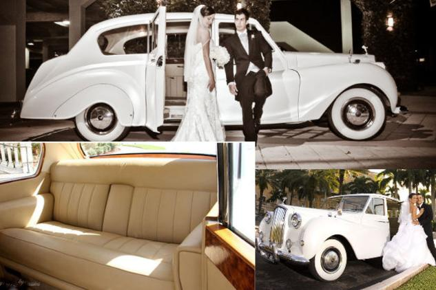 Vintage Wedding Limo Rolls Royce Phantom