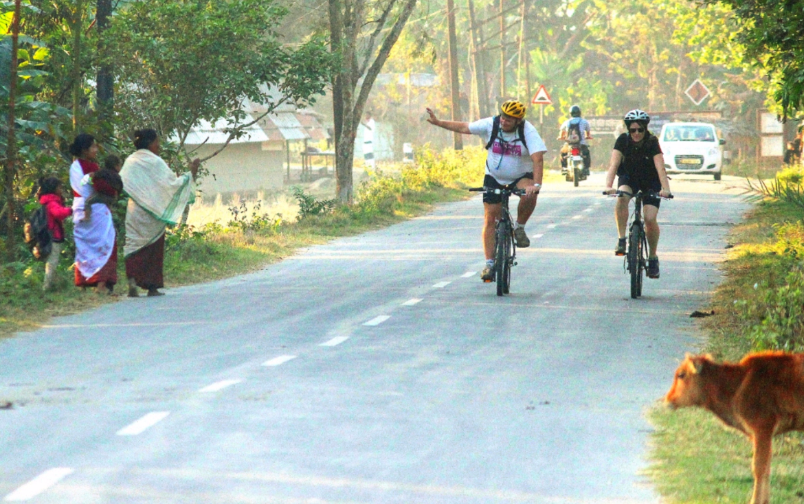 Cycling tour in Assam, Northeast India