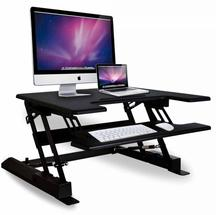 Portable Simple Manual Sit-Stand Desktop Workstation Black