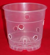 Extra Holes Supreme Air Poppelmann Teku 4.5 inch ultra clear plastic orchid pot excellent drainage and air circulation with UV protection