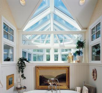 Bathroom glass roof skylight