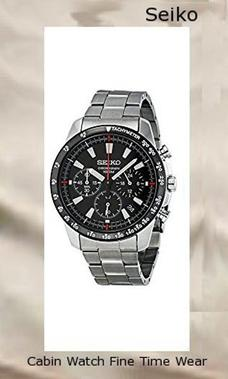 Seiko SSB031 Men's Chronograph Stainless Steel Case Watch,watch repair near me