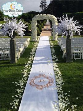 Custom Wedding Aisle Runners | Starry Night Design Studio