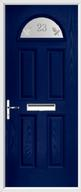 4 Panel 1 Arch Composite Door sandblast glass