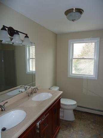 Newly painted hallbathroom Taunton MA.