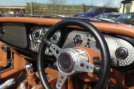 Plus 8 Dash Veneer in Engine Turned Stainless Steel