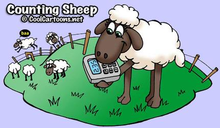 counting sheep cute cartoon logo animal character design