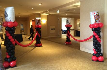 Casino Night Balloon Pedestals