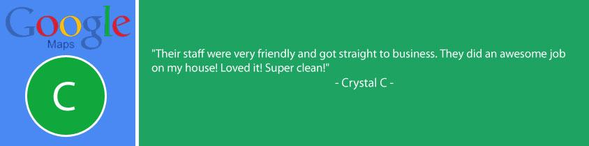 Google review of Always Ready Cleaning. They did an awesome job on my house!
