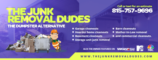 Huntley, IL Junk Removal - The Junk Removal Dudes 815-757-9696