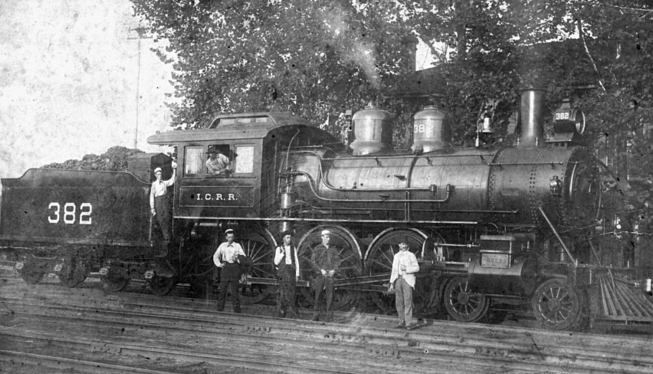 ICRR 382 at Water Valley, summer of 1900 after repairs were made at the shop. Photo by J. E. France.