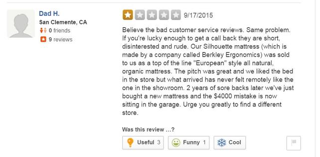 Berkeley Ergonomics mattress review