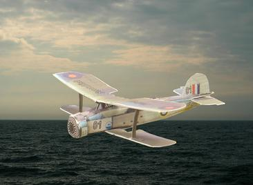 4D model of Fairey Albacore, link to WWII page