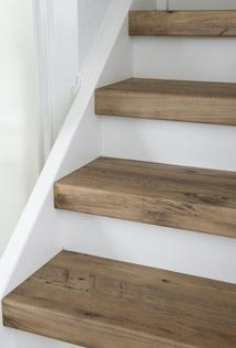 Reclaimed wood stairs Newport Beach