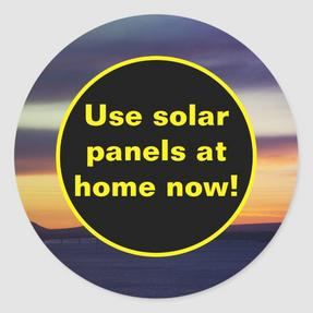 Use solar panels at home now