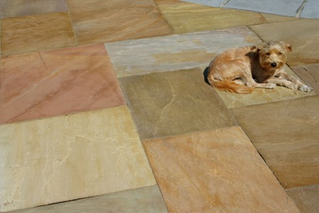 Krishna Yellow Sandstone Patterned Flagging & Pool Coping Natural Stone