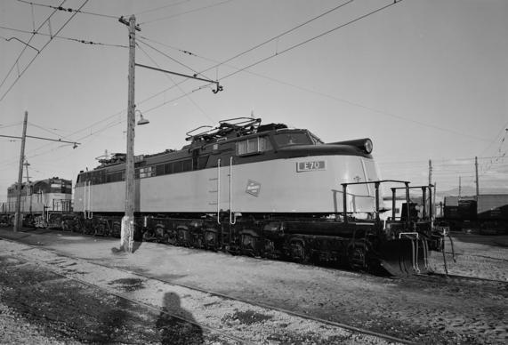"Milwaukee Road ""Little Joe"" electric locomotive E70, October 1974. (Library of Congress)"