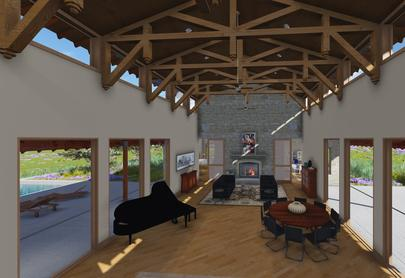 3DGreenPlanetArchitects.com timbered great room