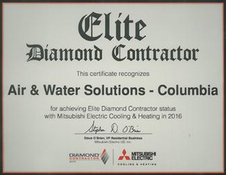 Air & Water Solutions Diamond Contractor Elite