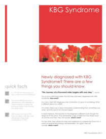 KBG Syndrome - Newly DIagnosed
