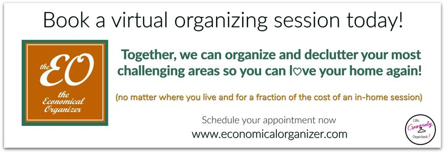 Book a virtual organizing session today!