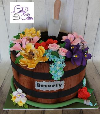 flower pot cake, sugar flowers, cake cape coral, cape coral cakes, cape coral birthday cakes, custom cakes cape coral, 3d cakes cape coral, swfl cakes, ladycakes cape coral, ladycakes bakery