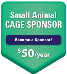 Small Animal Cage Sponsor $50