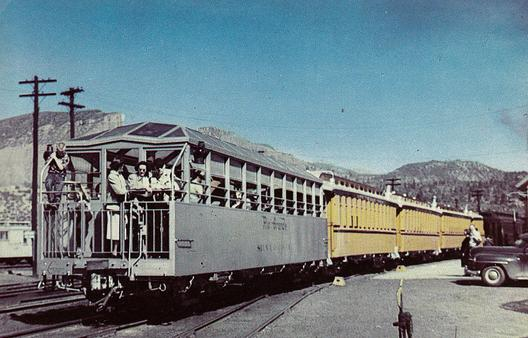 Postcard photo showing the Silver Vista observation car.
